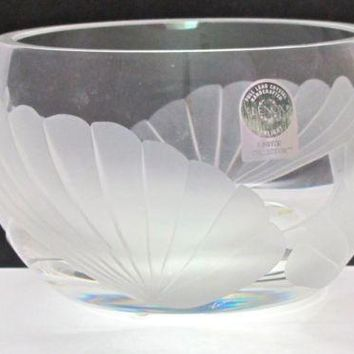 Signed Lenox Cut glass Fanlight bowl Crystal  Made in USA Limited collection