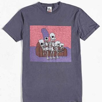 Junk Food The Simpsons Skeletons Tee