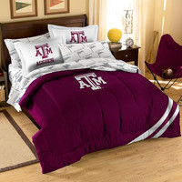 Texas A&M Aggies NCAA Bed in a Bag (Contrast Series)(Full)