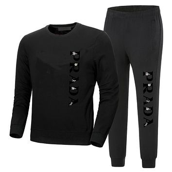 prada men's and women's round neckwear trousers and trousers suit