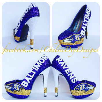 Baltimore Ravens Glitter High Heels