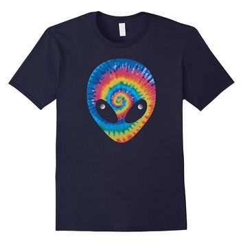 TIE DYE ALIEN HEAD T SHIRT