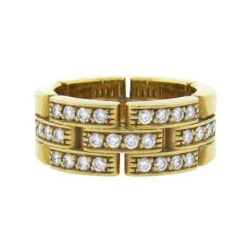 Cartier Maillon Panthere Gold Diamond Ring