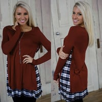 Girly Glam Tunic (Burgundy) - Piace Boutique