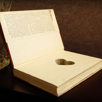 Hollow Book Safe with Heart (The Life and Times of Chaucer)