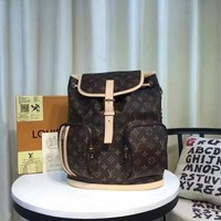 Lv Louis Vuitton Women's Monogram Canvas Bosphore Backpack Bag