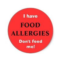 FOOD ALLERGIES sticker from Zazzle.com