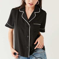 Cooperative Shiny Short Sleeve Pajama Top | Urban Outfitters