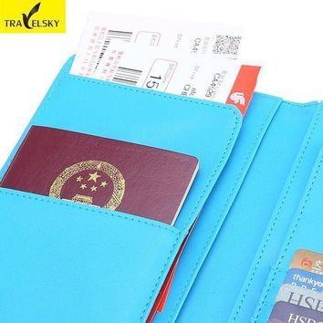 CREYCI7 Hot Men&Women Wallets 2pcs/set Free shipping RFID Business passport holder card holder business wallet ticket holder 13600
