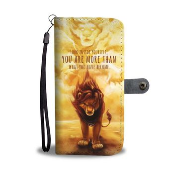 PEAPV4S The Lion King Look Inside Yourself Wallet Phone Case