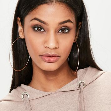 Missguided - Rose Gold Large Hoop Earrings