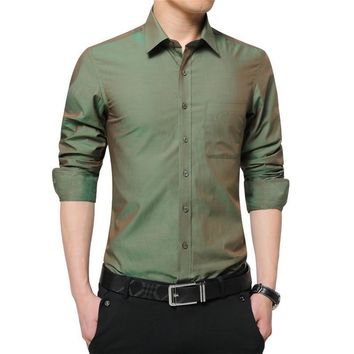 Long Sleeve  Men's Dress Shirt