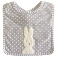 Bunny Applique Bib - Grey by Alimrose