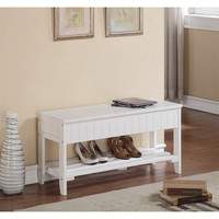 Rennes Solid Wood Shoe Bench With Storage | Overstock.com Shopping - The Best Deals on Benches