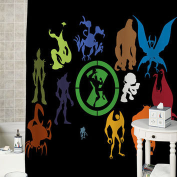 Ben 10 Alien Force special shower curtains that will make your bathroom adorable.