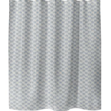 FRILL BLUE Shower Curtain By Tiffany Wong