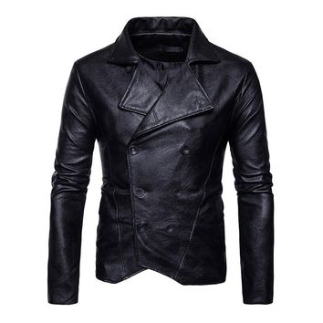Trendy Gothic Plus Size Faux leather Burgundy Skull Jacket Long Sleeve Stand Collar Slim White Shirt Casual Cothes Black PU Jacket AT_94_13