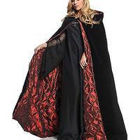 Black and Red Adult Womens Cape - Spirithalloween.com
