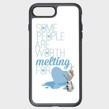 Custom iPhone Case Olaf Frozen quotes some people are worth melting for