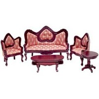 5-Pc. Gothic Revival Living Room Set