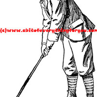 1800s golf golfer sports printable art clipart png download digital image original graphics digital stamp black and white
