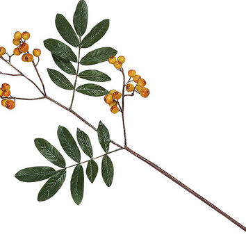Yellow Berry Stem | Bloom Artificial Flowers