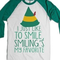 White/Evergreen T-Shirt | Funny Elf Christmas Shirts