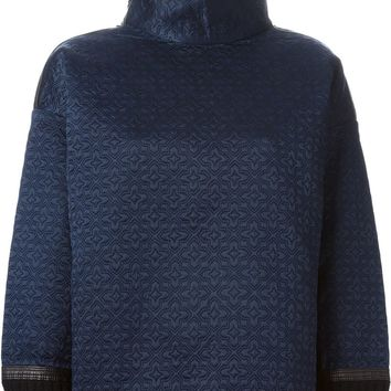 Tory Burch quilted funnel neck oversized sweatshirt