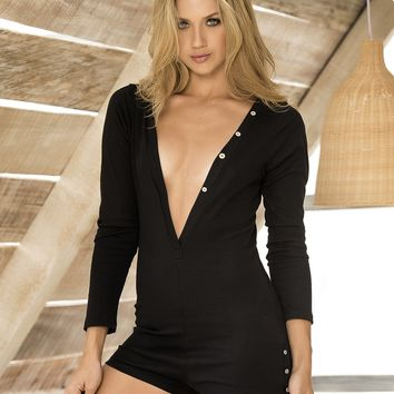 Long Sleeve Sleep Romper