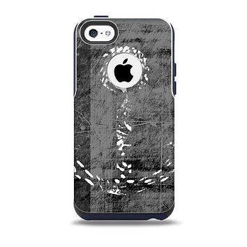 The Smudged White and Black Anchor Pattern Skin for the iPhone 5c OtterBox Commuter Case