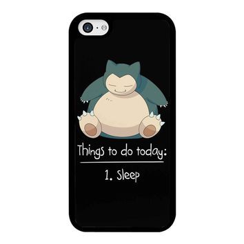 Things To Do Today Sleep Pokemon Snorlax iPhone 5C Case