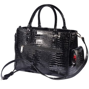 Black Croc Wine Purse By Chris Stuff