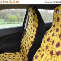 Me-Mo Sunflower Airbag-friendly Front Car Seat Covers