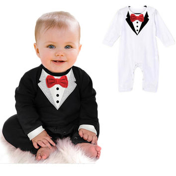 Toddler Baby Boy Rompers Spring Baby Clothing Sets Gentleman Roupas