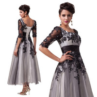 Grace karin Applique Lace Gown Evening Cocktail Party Prom Formal Dress Mother of the Brides