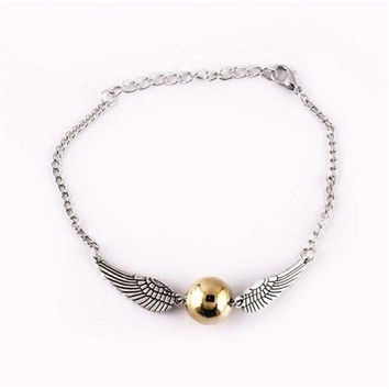 Harry Potter and the Deathly Hallows Bracelet Golden Snitch Bracelet  High Quality Harry Potter Fashion Jewelry- Best Christmas Gift