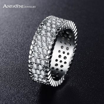 ANFASNI 2017 New Fashion Women Rings In Jewelry accessories Round Zirconia Rings anillos CRI0187-B