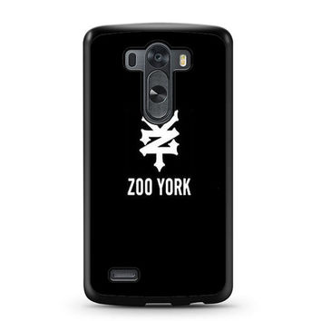 zoo york black logo LG G3 Case
