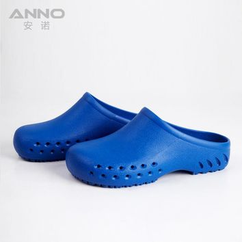 TPE blue surgery plastic safety clogs health hooves zoccoli sanitari doctor shoes slipper Shoes men women surgery clog.