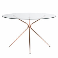 "Volta 48"" Dining Table BRUSHED COPPER"