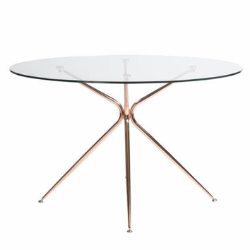 """Volta 48"""" Dining Table BRUSHED COPPER"""