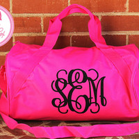 Glitter Monogram Duffel Bag Eco Friendly Preppy Bridesmaid Sorority Wedding Bridal Party Glitter Tote Duffle