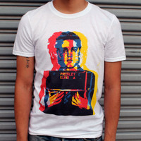 Holiday Sale- 15 Dollars- Elvis Presley Mugshot Shirt - All Sizes Available
