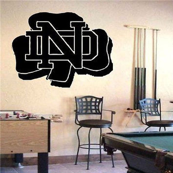 NCAA Notre Dame Fighting Irish Logo Emblem Wall Art Sticker Decal (S679)