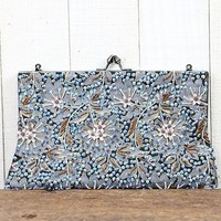 Floral Beaded Clutch