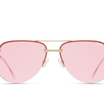 Quay The Playa Rose Sunglasses / Pink Lenses