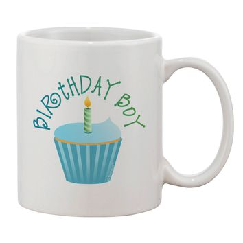 Birthday Boy - Candle Cupcake Printed 11oz Coffee Mug by TooLoud