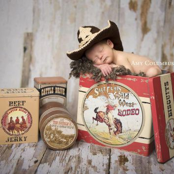 Cowboy Outfit - Cowboy Boots  - Cowgirl Boots - Cowgirl Outfit  - Newborn Photo Outfit Boy - Newborn Cowboy Outfit - Baby Girl Cowboy