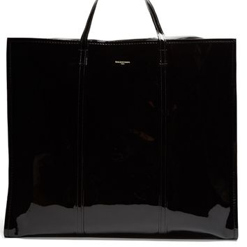 Bazar extra-large patent-leather tote | Balenciaga | MATCHESFASHION.COM US