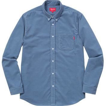 Supreme: Corduroy Shirt - Steel Blue